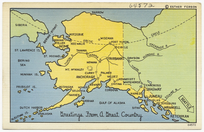 9) Lastly, because the Aleutian Islands cross the 180 degree meridian of longitude, Alaska is the farthest Northern, Eastern, and Western state! Cool, huh?