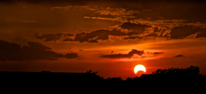 2. This solar eclipse took place in Schererville, Indiana on May 20, 2012. Beautiful!