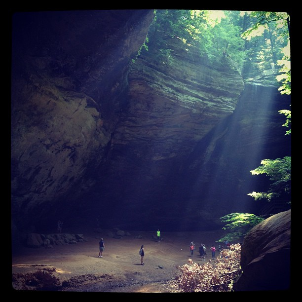 6. Sunlight through Ash Cave at Hocking Hills State Park