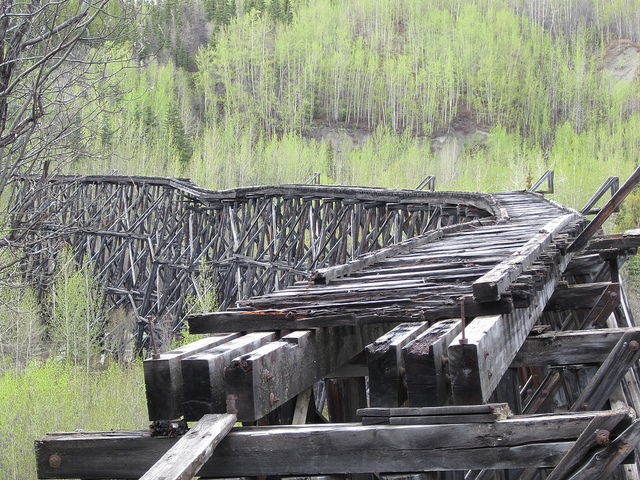 2) Old Copper Railroad in Chitina