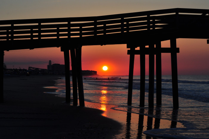10. Another Ocean City sunrise, perfectly framed.