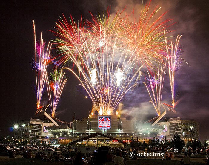 2. Fireworks at Sports Authority