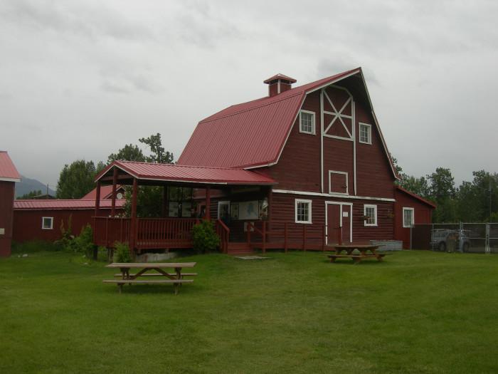 2) Musk Ox Farm Barn in Palmer.