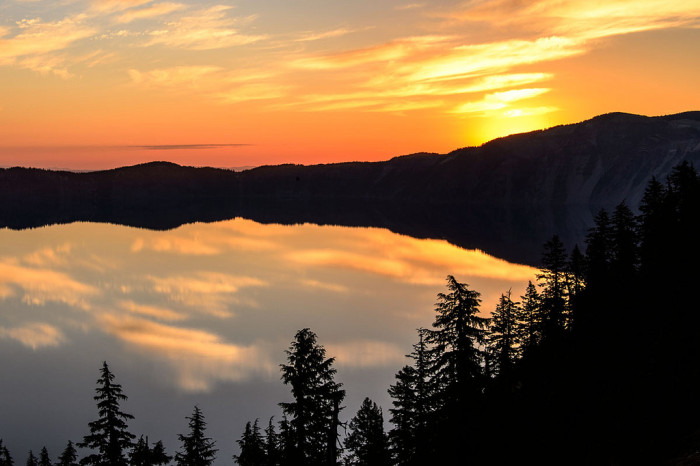 3) Crater Lake sunrise.
