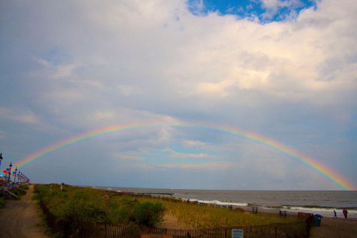 1. A welcoming rainbow over the beach in Ocean City.