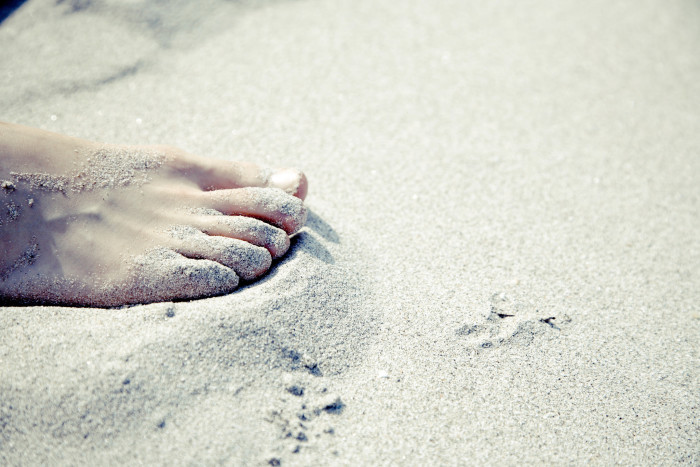 8) Being barefoot.