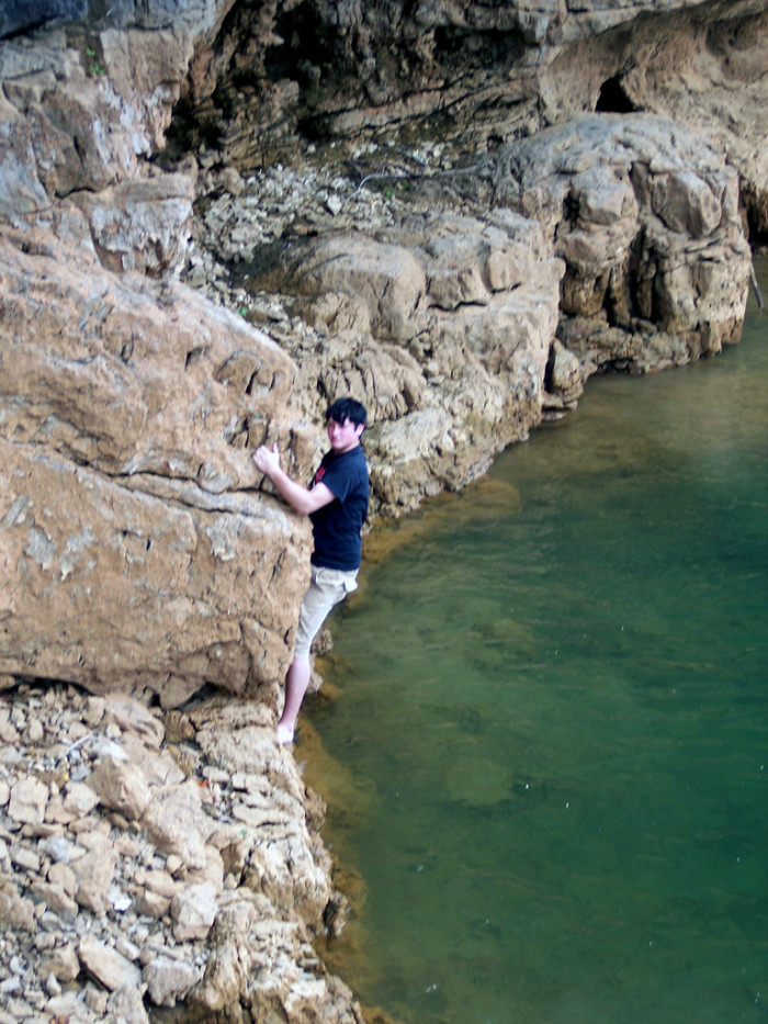 8) Cliff Jumping