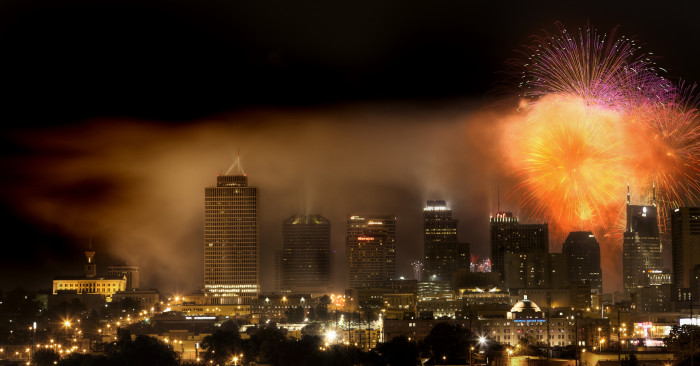 8) The Nashville fireworks show on the Fourth of July consistently make it to the best in the country.