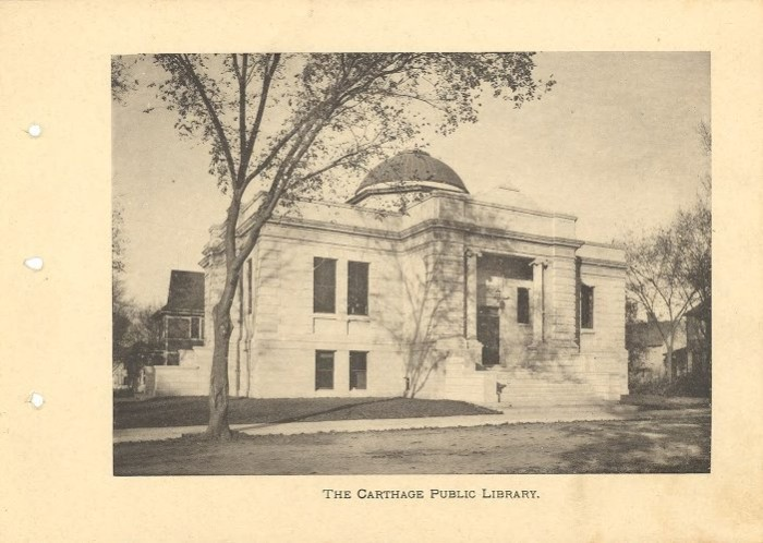 8.Carthage Public Library, 1906.
