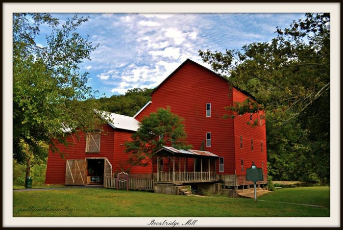 8.  This photo of Rockbridge Mill was captured by Patty Wheatley Bishop.