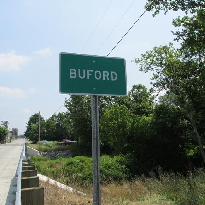 6. Buford (Population: 348)