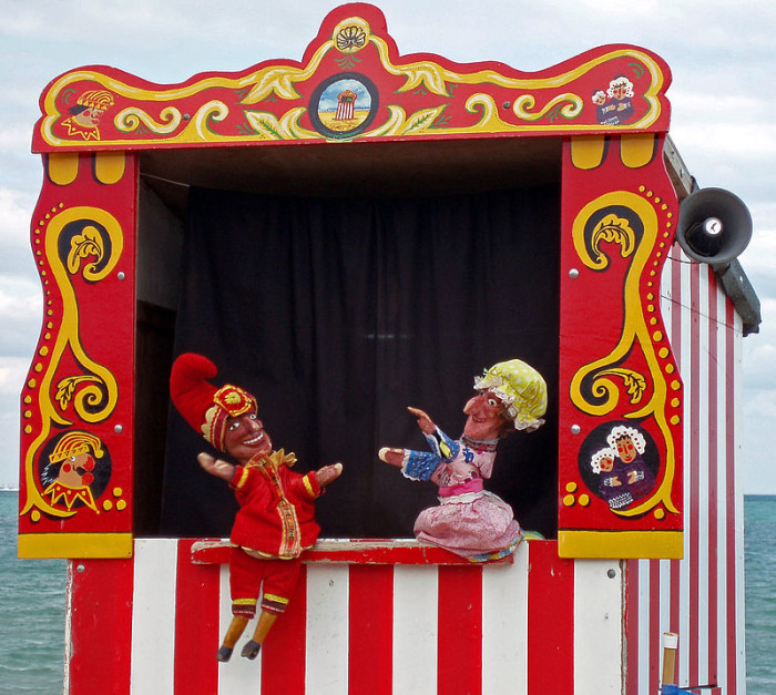 7. Did you know charging people to see wire dancing, puppet shows, and tumbling acts is a finable offense?
