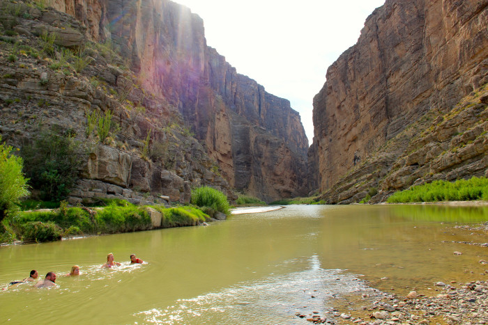 11) What a breathtaking view of the Rio Grande River flowing through the Santa Elena Canyon in Big Bend National Park!