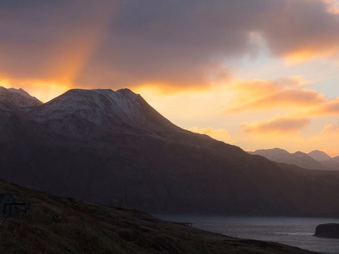 12) The sunrise over Unalaska!