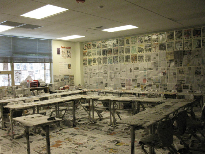 8. Your whole class got together and planned the coolest senior prank. Paper mache classroom? Check.