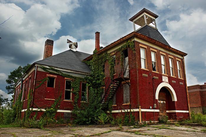 6. Butlerville School has definitely seen better days... Nature is reclaiming it!