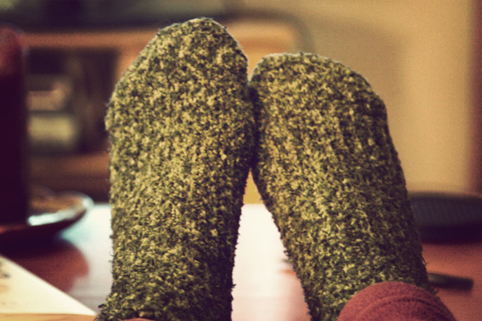 8. And the fuzzy socks!