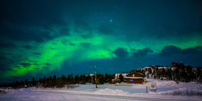 1) The Aurora over a home in Fairbanks.