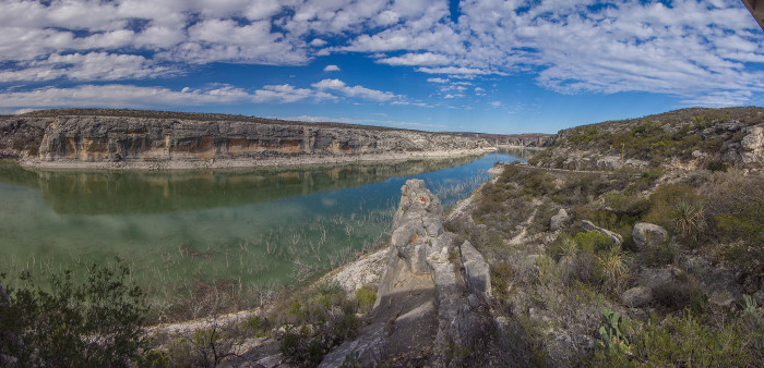 10) The Pecos River, flowing through New Mexico and Texas, spans 926 miles. This is taken near the Amistad National Recreation Area.