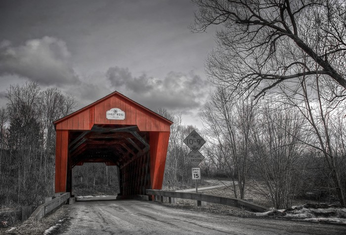 7) Cooley Covered Bridge, Pittsford