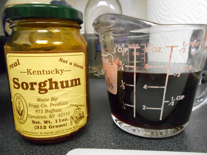 11. Sorghum, homemade biscuits, and sweet cream