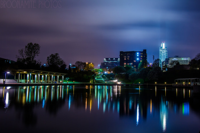 10. The classic downtown Omaha skyline looks so elegant all lit up at night.