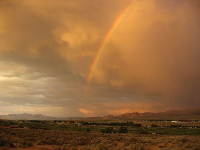 5. This fabulous rainbow occurred after a brief storm in Winnemucca.