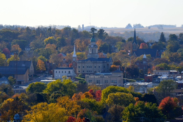 8. Mary Grube shared this scenic view of Decorah during the fall.