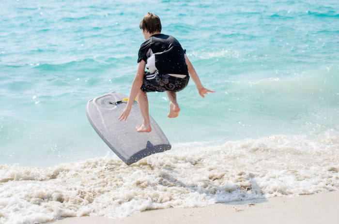 9) Rent boogie boards.
