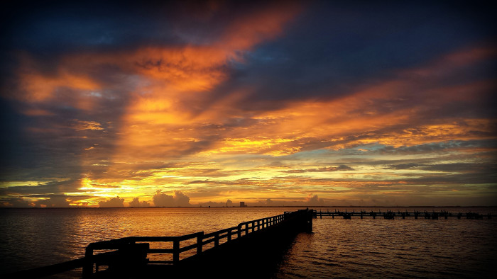 20. This Indian River sunrise that painted the sky