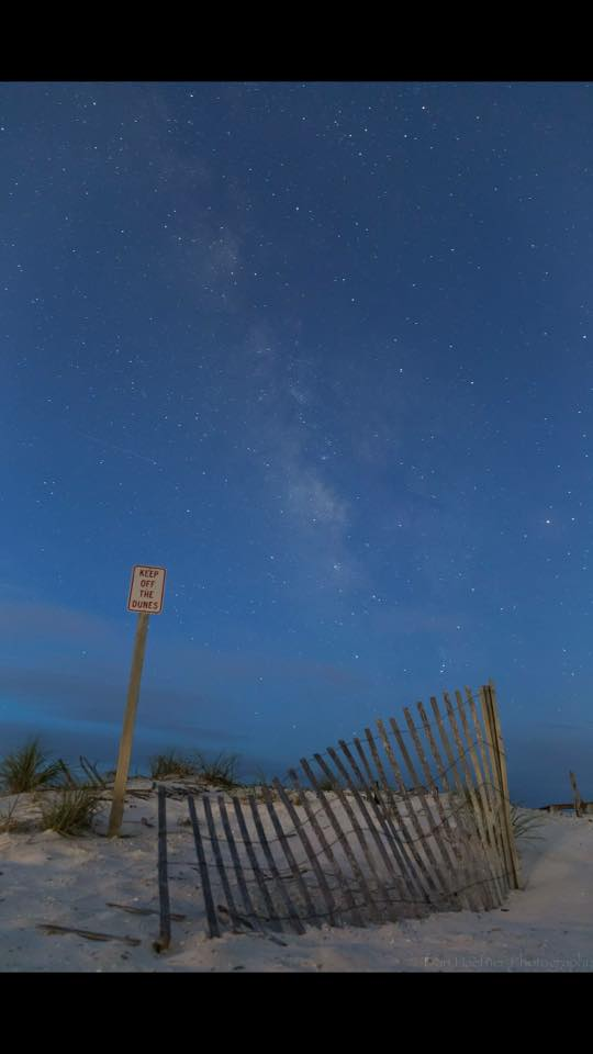 9. A blanket of stars covers the beach in Biloxi.