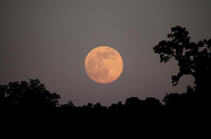 9. Moon rising In Northwest Georgia