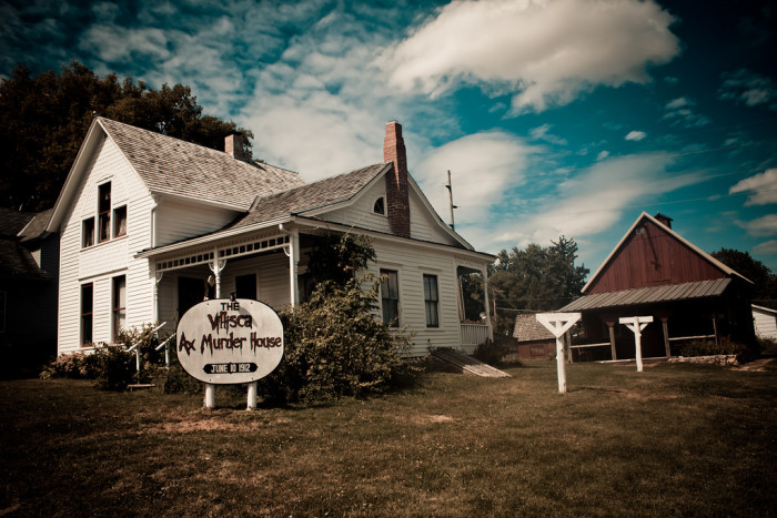 9. Another reason is the infamous Villisca ax murder, where an entire family was murdered in their sleep by a stranger - who was never caught. Maybe he's still roaming around, or his evil spirit still haunts the area. I don't think I want to find out...