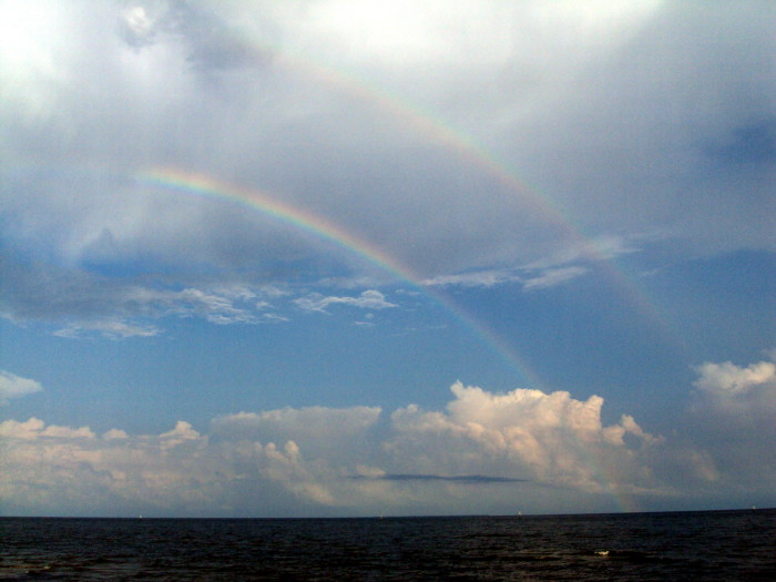 9. Proof that two is better than one, a stunning double rainbow makes an appearance in Gulfport.