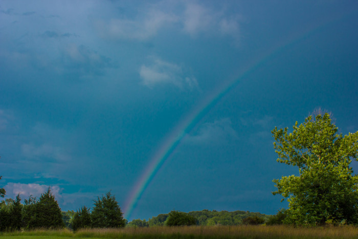 2. Another very pretty rainbow taken somewhere in the Hoosier sky. According to the photographer, this was taken about two years ago.