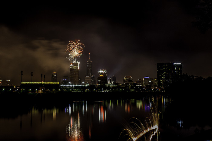 2. The city of Indianapolis is always pretty beautiful at night, but this Fourth of July picture from a couple years ago just makes it more incredible.