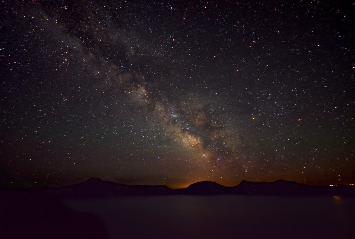 1) The Milky Way over Crater Lake.