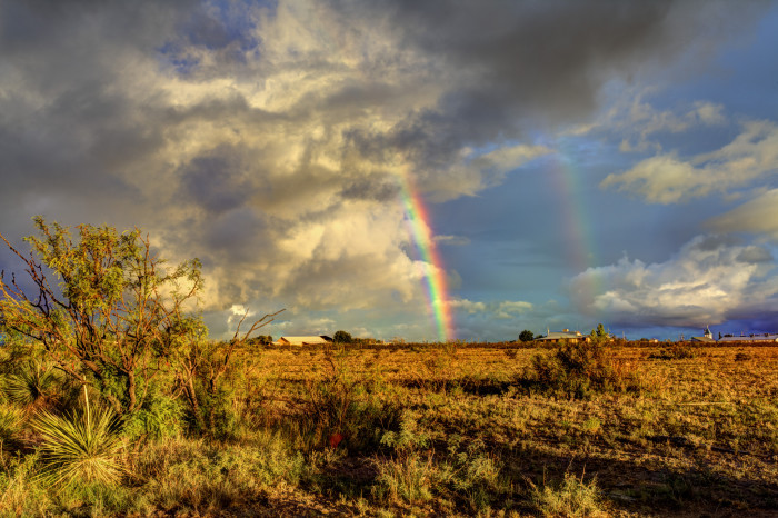 5) What a beautiful double rainbow photographed in Marathon, TX!