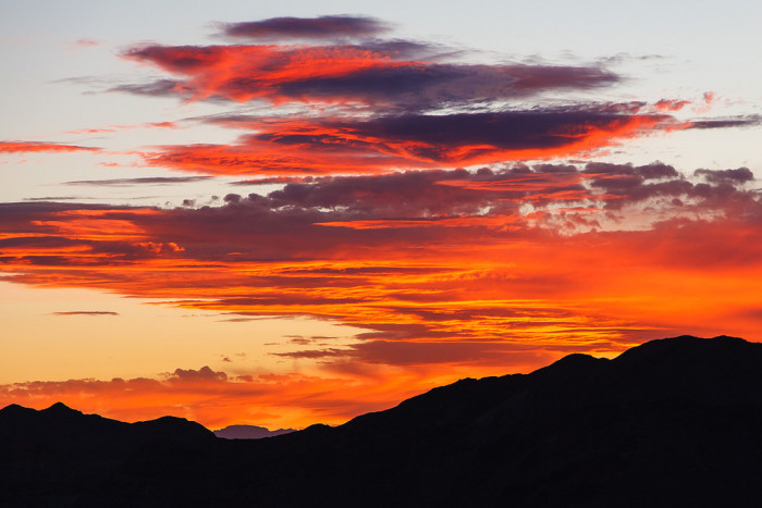 5. This stunning sunset is also overlooking the North Shore Summit Trail within the Lake Mead National Recreation Area.