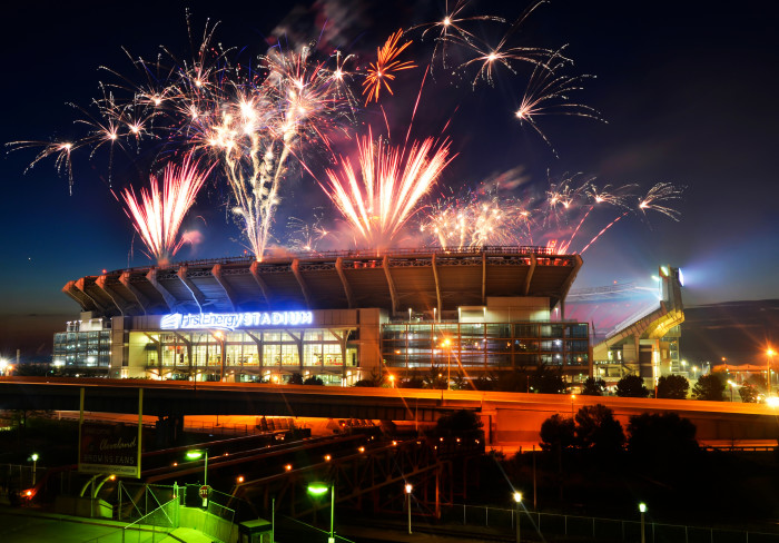 1. FirstEnergy Stadium Fireworks in downtown Cleveland