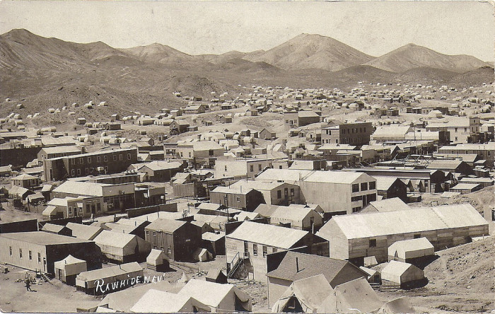 4. This historic photo was captured in the mining town (now ghost town) of Rawhide, Nevada, circa 1910.