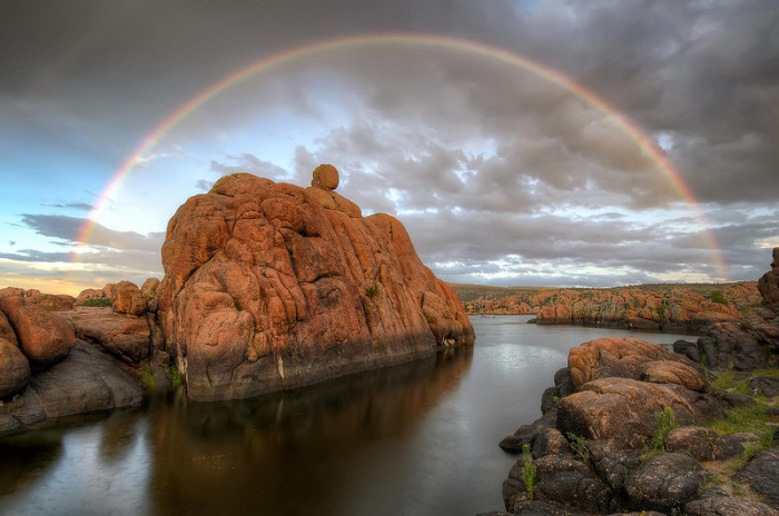 11. A rainbow over Watson Lake? It makes such a pretty sight.