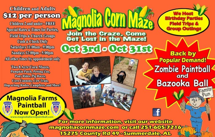 1. Magnolia Corn Maze