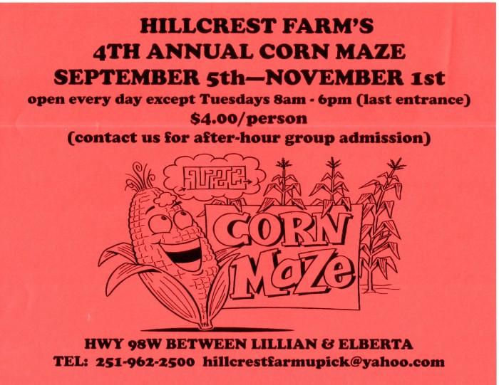 5. Hillcrest Farm Corn Maze