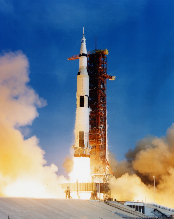 7. The Saturn V rocket, which sent the first Americans to the moon, was designed in Huntsville, Alabama at the Marshall Space Flight Center.