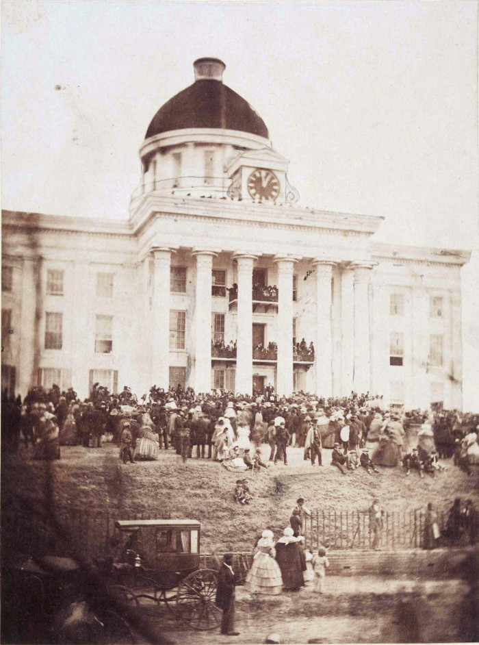 5. The inauguration of Jefferson Davis in Montgomery, Alabama on February 18, 1861.