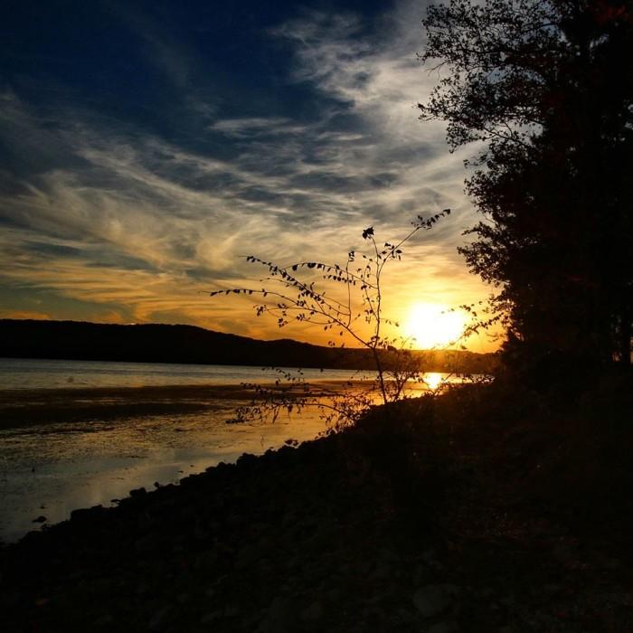 9. A beautiful sunset on Bush Creek in Waterloo, Alabama.