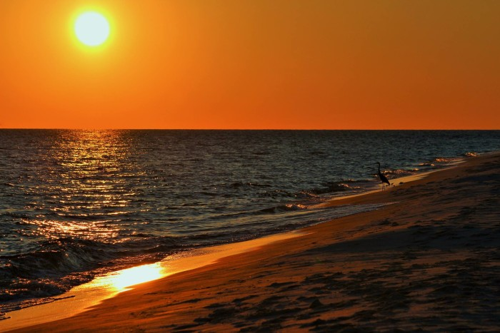 2. A picture-perfect sunset in Fort Morgan, Alabama.