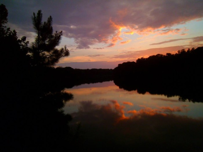 15. A magnificent capture of the Warrior River in Moundville, Alabama.