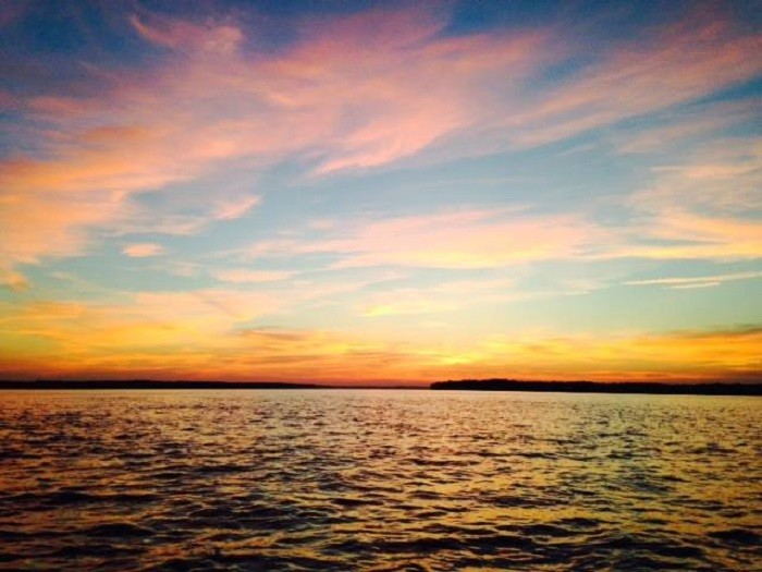 17. A colorful sunset on Wilson Lake.